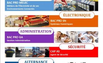 Affiche portes ouvertes 2017 - samedi 4 février 2017 - Lycée Vertes Feuilles