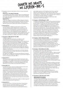charte des droits lycéens 2